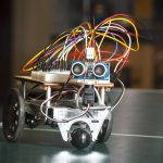 This student-built robot can navigate a maze. Almost.