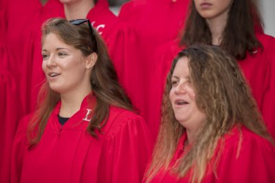 """Photo of Concert Choir singing """"Will the Circle be Unbroken."""""""