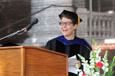Dr. Alicia Carter speaks at convocation