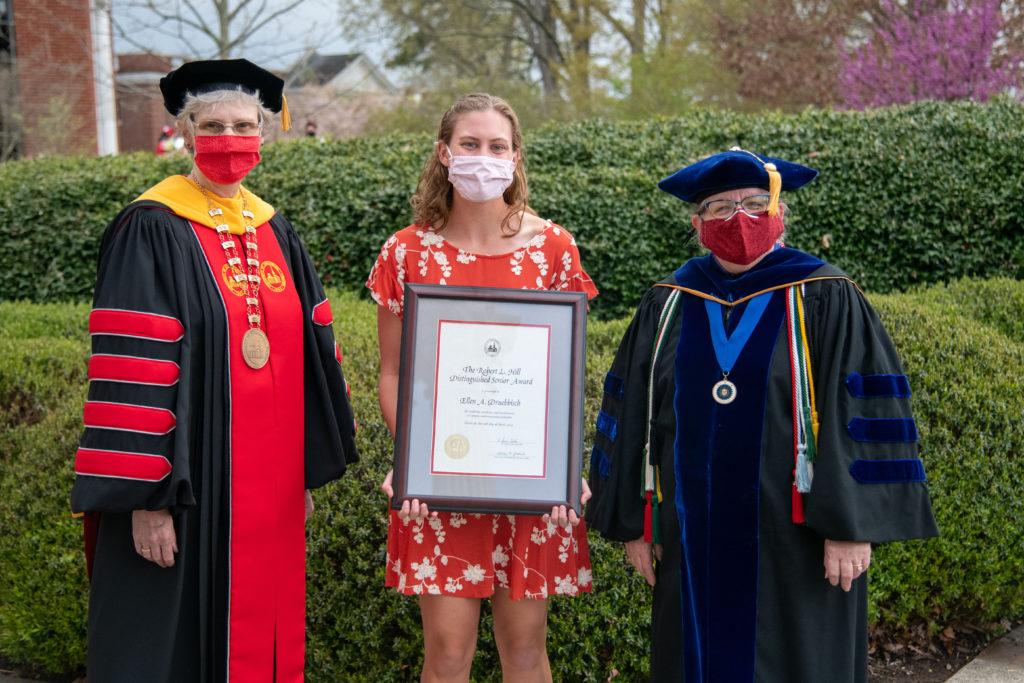 President Alison Morrison-Shetlar, Ellen Druebbisch, and Provost Alison Jablonski