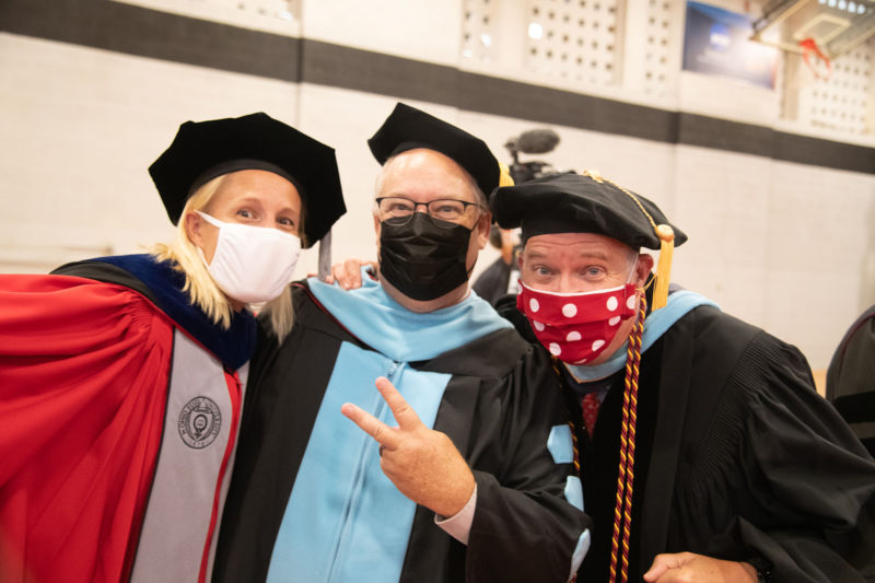Faculty pose at Convocation