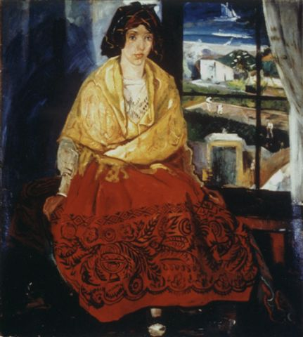 Louise in Asturian Costume by Pierre Daura