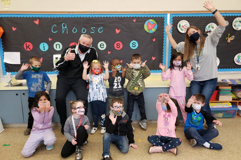 Austin Norman at Huddleston Elementary School in December
