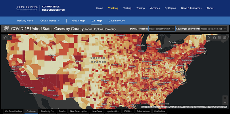 COVID-19 cases in the U.S. by county as of Jan. 4