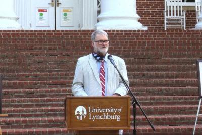 Chip Walton at faculty awards 2021