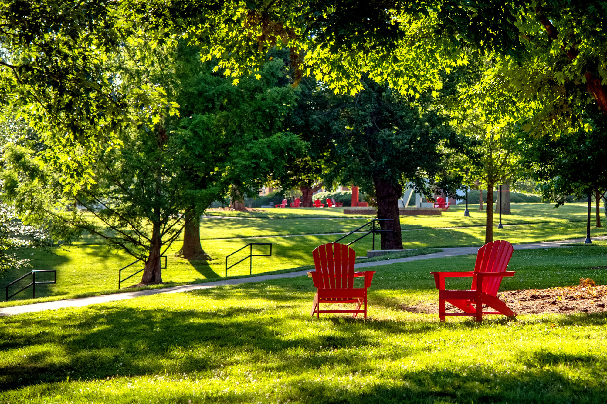 red chairs on the Dell