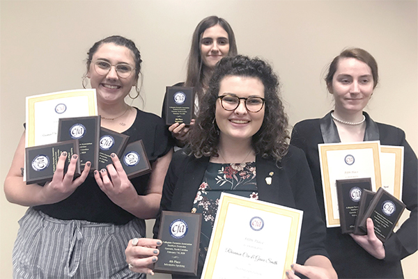 Debate and Forensics Team scores big at collegiate tournament
