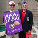 Ken Garren and Gary Witt at Purple Heart University ceremony