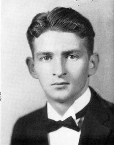 Norton Hurd in his 1938 senior photo in The Argonaut