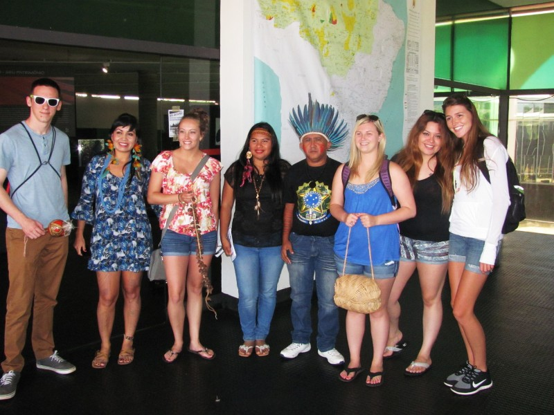 While in Brazil, LC students met with indigenous representatives at the  Brasilia Memorial Museum of the Indian People.