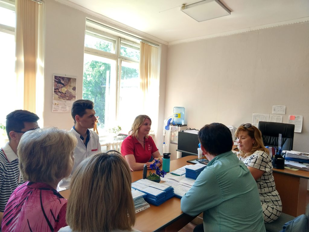 Jennifer Hall leads a workshop in Kazakhstan