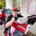 Lori Elholm and blanket