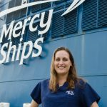 Mary Deis on the Africa Mercy ship