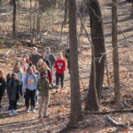 Nature walk on campus trails