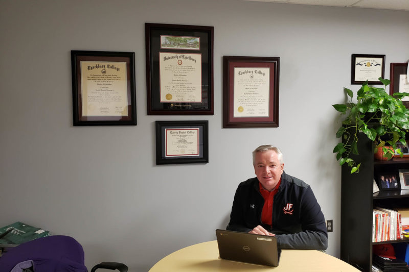Austin Norman in his office