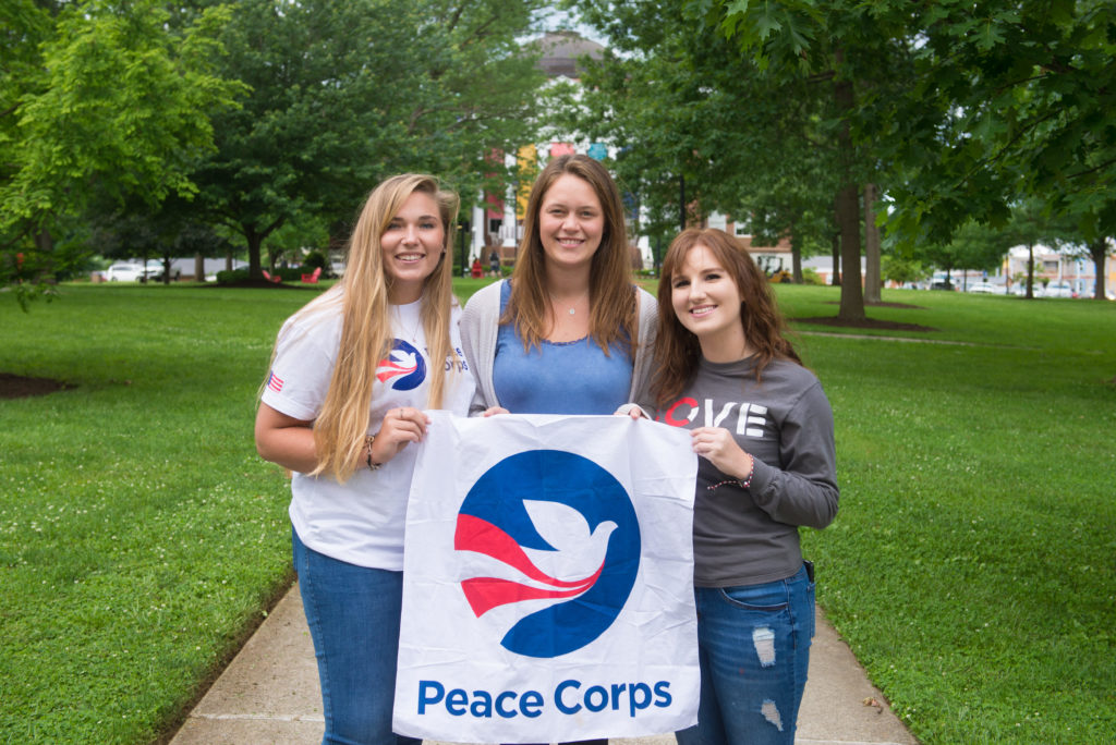 Peace Corps bound students 2019