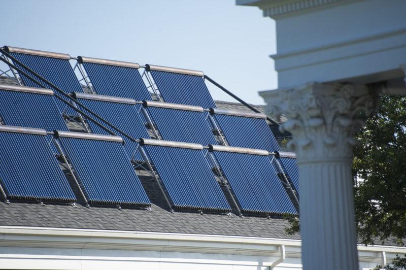 Solar panels on Montgomery Hall