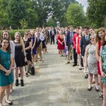 Photo of Westover Honors students lined up on the Dell.