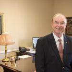 President Garren in his office