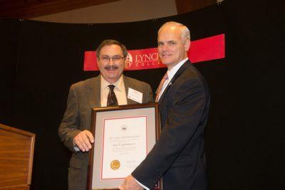Paul Goldenbaum receives his T. Gibson Hobbs Memorial Award.