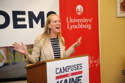 Jennifer Lewis speaks at University of Lynchburg