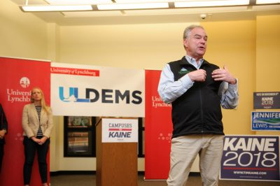 Tim Kaine speaks at University of Lynchburg