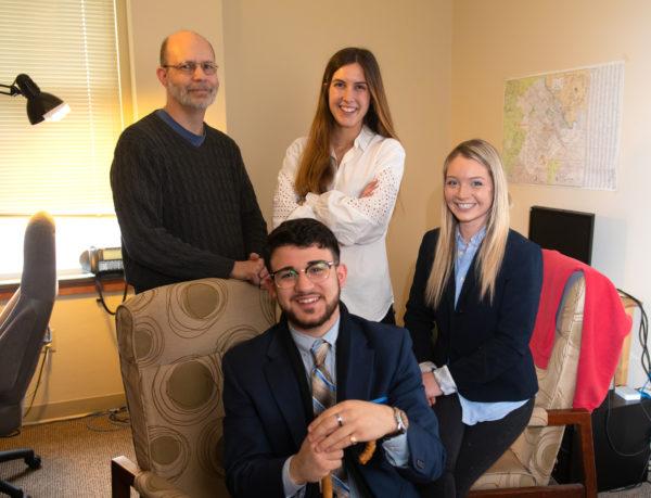 Stef Nicovich, Claudia Lopez Perez, Stephanie Quaranto, and Niko Louvros