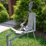 Sculpture of an artist painting