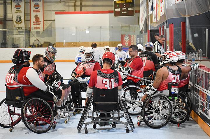Ryan Beale's wheelchair lacrosse team