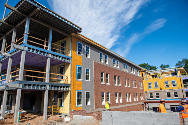 Power on, work 'on schedule' at new residence hall