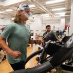 Governor's School Student on Treadmill