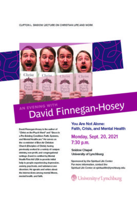 A flyer about the Snidow Lecture on September 20