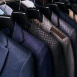 Suits in closet