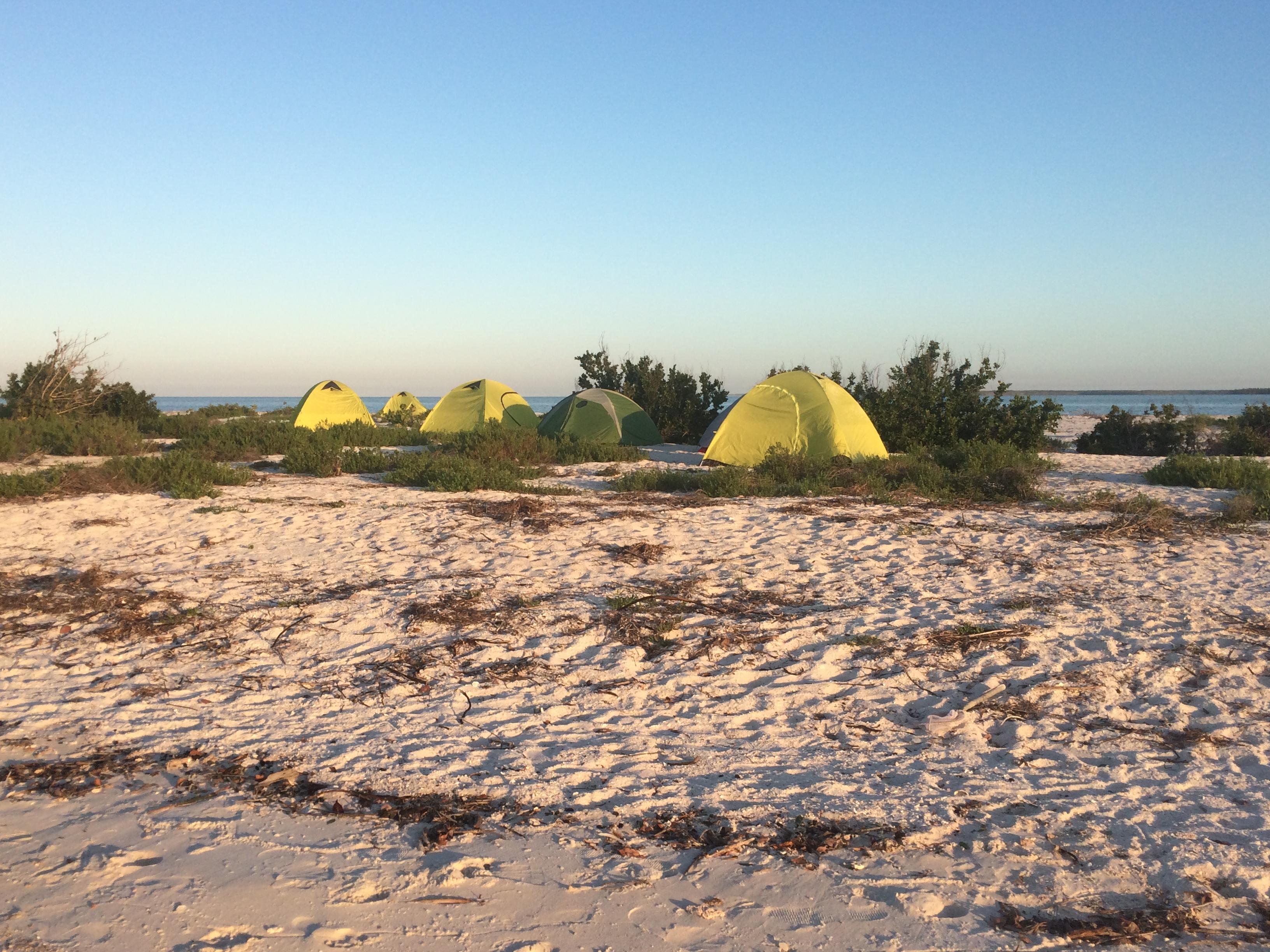 tents on beach