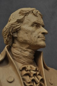 Thomas Jefferson sculpture in clay state