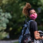Zuri Greene in a mask