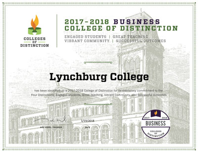 Lynchburg College Business Certificate image