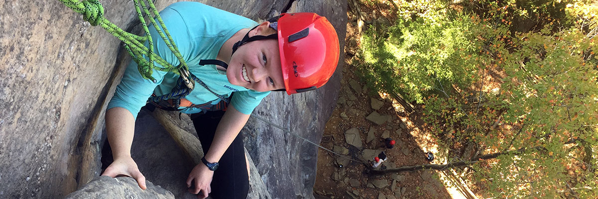 Natalie Hanno '21, biomedical science major, and outdoor recreation and sports medicine double minor