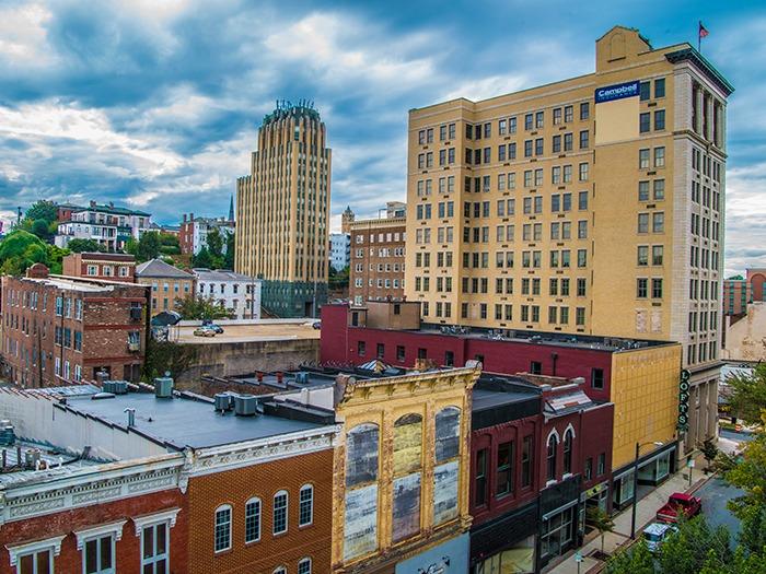 View of downtown Lynchburg