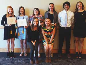 Alpha Phi Sigma inductees with previous inductees
