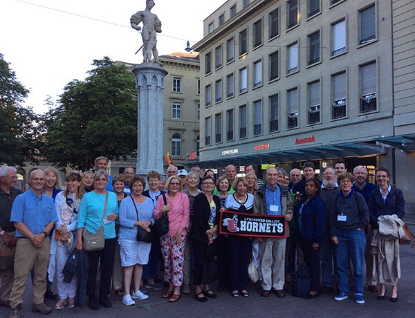 Group photo of alumni and friends in Bern, Switzerland in June 2018