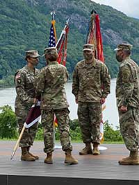 Col. Amy Jackson during COC ceremony at West Point