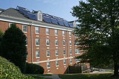 Montgomery Hall solar hot water