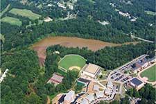 Aerial shot of watershed
