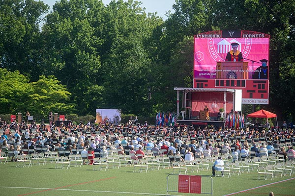 Class of 2021 graduates in two Commencement ceremonies