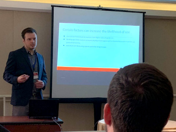 Economics major, Westover presents research to scholarly organization