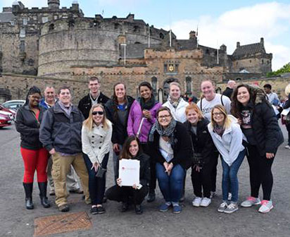 Students in Edinburgh, Scotland