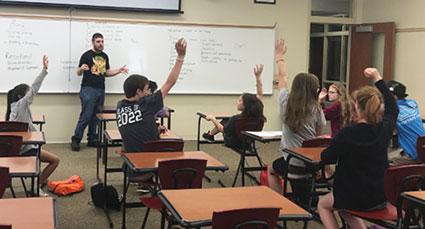 Students at debate and forensics summer camp