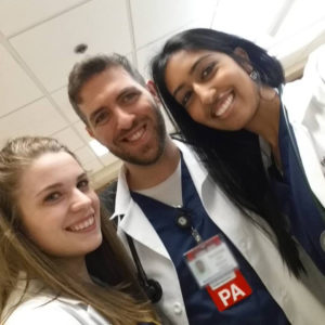 Mordechai Sacks with two colleagues