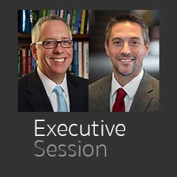 Dr. Larry Herman and Dr. Jeremy Welsh cover art for Executive Session podcasdt